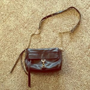 Black and gold cross body purse